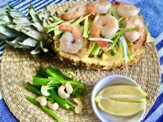 thajská smažená rýže s ananasem