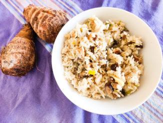 Dušená rýže s taro