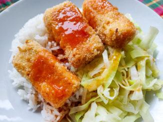 Smažený tofu řízek