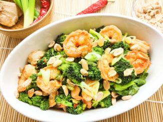 Recept krevety s brokolicí