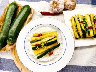 Recept na cuketové hranolky na asijský způsob